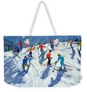 Busy Ski Slope Weekender Tote Bag