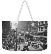 Busy State Street In Chicago Weekender Tote Bag