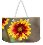 Butter Yellow And Crimson Red Coneflower Weekender Tote Bag