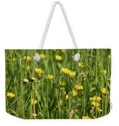 Buttercups And Green Grass At Moore State Park Weekender Tote Bag