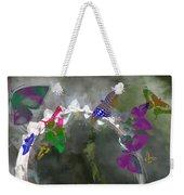 Butterflies And Dew Weekender Tote Bag