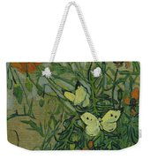 Butterflies And Poppies, 1890.  Weekender Tote Bag