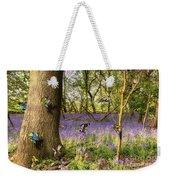 Butterflies In A Bluebell Woodland Weekender Tote Bag