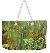 Butterflies In The Bog Weekender Tote Bag