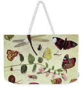 Butterflies, Insects And Flowers Weekender Tote Bag
