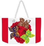 Butterflies On Roses Weekender Tote Bag