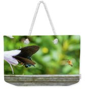 Butterfly And Bee Weekender Tote Bag