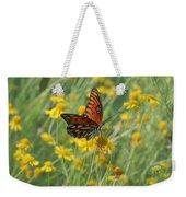 Butterfly And Flowers Weekender Tote Bag