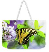 Butterfly And Lilacs Weekender Tote Bag