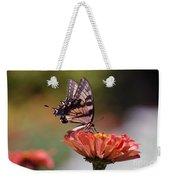 Butterfly And Orange Zinnia Weekender Tote Bag