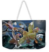 Butterfly And Orhid Weekender Tote Bag