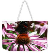 Butterfly And Pink Cone Flower Weekender Tote Bag