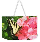 Butterfly And The Geranium Weekender Tote Bag