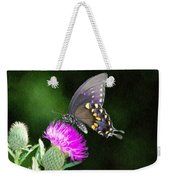 Butterfly And Thistle Weekender Tote Bag
