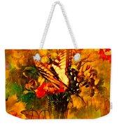 Butterfly Atop Flower Arrangement Weekender Tote Bag