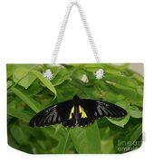 Butterfly Black And Yellow Weekender Tote Bag