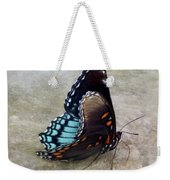 Butterfly Blue On Groovy 2 Weekender Tote Bag
