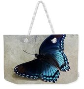Butterfly Blue On Groovy Weekender Tote Bag