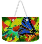 Butterfly Blues Weekender Tote Bag
