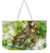 Butterfly Close Up Digital Watercolor On Photograph Weekender Tote Bag