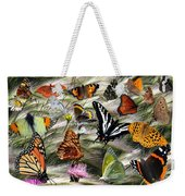 Butterfly Collage Weekender Tote Bag