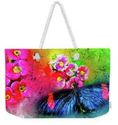 Butterfly Color Explosion Weekender Tote Bag