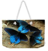 Butterfly Huddle At The Puddle Weekender Tote Bag