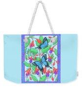 Butterfly Idyll-fuchsias Weekender Tote Bag