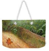 Butterfly In A Small Zen Sand Garden Weekender Tote Bag