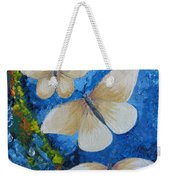 Butterfly In Blue 4 Weekender Tote Bag