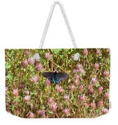 Butterfly In Clover Weekender Tote Bag