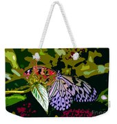 Butterfly In Garden Weekender Tote Bag