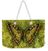 Butterfly In Greens-amber Collection  Weekender Tote Bag