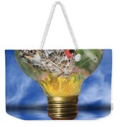 Butterfly In Lightbulb Weekender Tote Bag