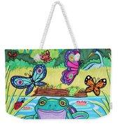 Butterfly Lake Weekender Tote Bag