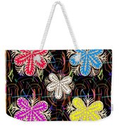 Butterfly Look Graphic Flowers Colorful  Art For A Cheerful Smiling Mood Great For Kids Room Party R Weekender Tote Bag