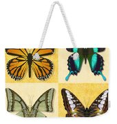 Four Butterfly Montage Weekender Tote Bag