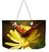 Butterfly On A Daisy  Weekender Tote Bag