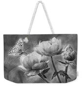 Butterfly On A Flower Weekender Tote Bag