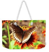 Butterfly On A Sunset Weekender Tote Bag