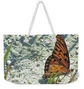 Butterfly On Beach Weekender Tote Bag