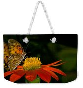 Butterfly On Blossom Weekender Tote Bag