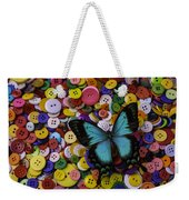 Butterfly On Buttons Weekender Tote Bag
