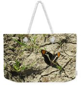 Butterfly On Cracked Ground Weekender Tote Bag