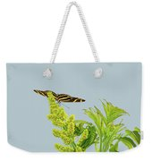 Butterfly On Flower Cluster Weekender Tote Bag