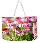 Butterfly On Flowers Weekender Tote Bag