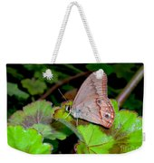 Butterfly On Geranium Leaf Weekender Tote Bag