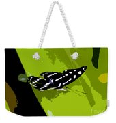 Butterfly On Green Weekender Tote Bag