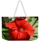 Butterfly On Hibiscus Weekender Tote Bag
