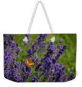 Butterfly On Lavender Weekender Tote Bag